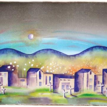 Blue Moon Over The High Desert / Lisa Bauer Design