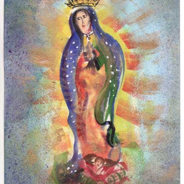 Energetic Virgin De Guadalupe / Lisa Bauer Design